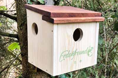 Nisthaus für Eichhörnchen