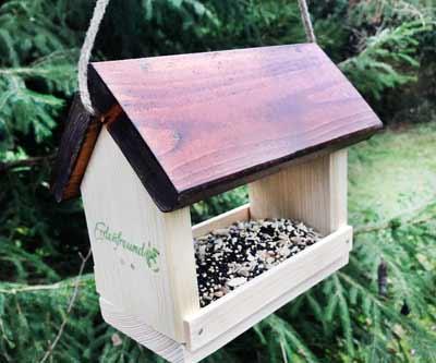 Heimische Gartenvögel Vogelfutterhaus