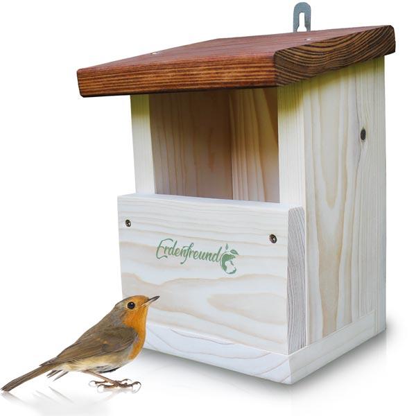 Vogelhaus aufhängen für Rotkehlchen