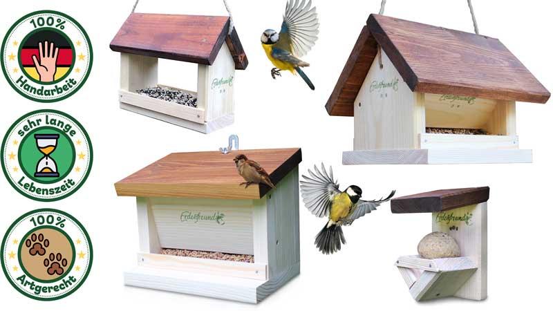Vogelfutterhaus Holz