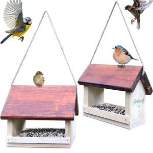 Vogelfutterhaus groß und klein
