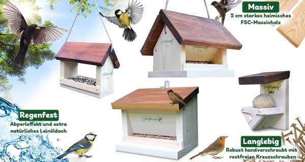perfektes Vogelfutterhaus