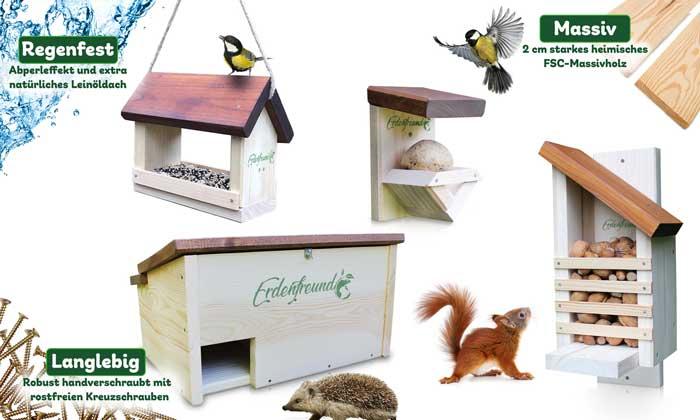 Erdenfreund FSC-Tierhäuser Handwerkskunst