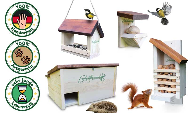 Futterhausaktion Qualitäts-Tierhäuser